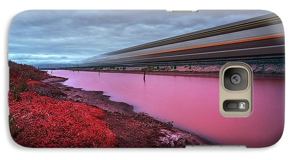 Galaxy Case featuring the photograph I Hear The Ghost Train Rumbling Along The Tracks by Peter Thoeny