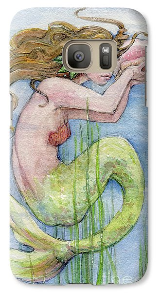 Galaxy Case featuring the painting Mermaid by Lora Serra