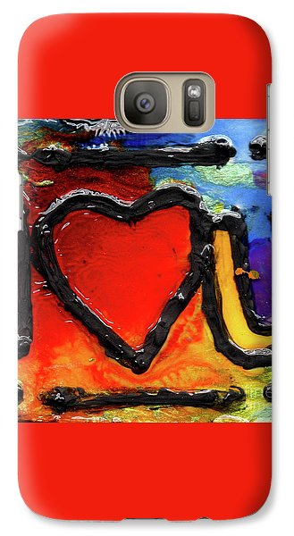 Galaxy Case featuring the painting I Heart You by Genevieve Esson