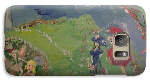 Galaxy Case featuring the painting I Hope Fairies Are Real by Judith Desrosiers