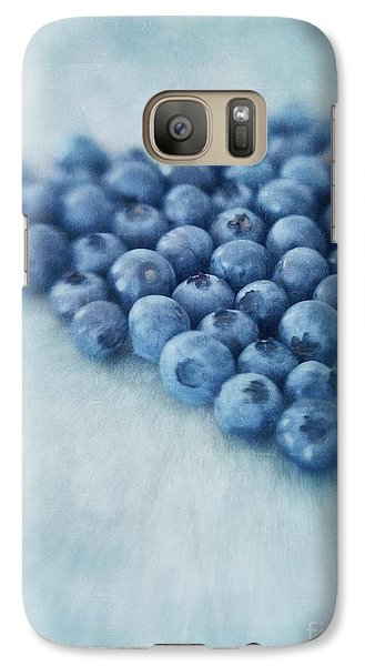 I Love Blueberries Galaxy Case by Priska Wettstein