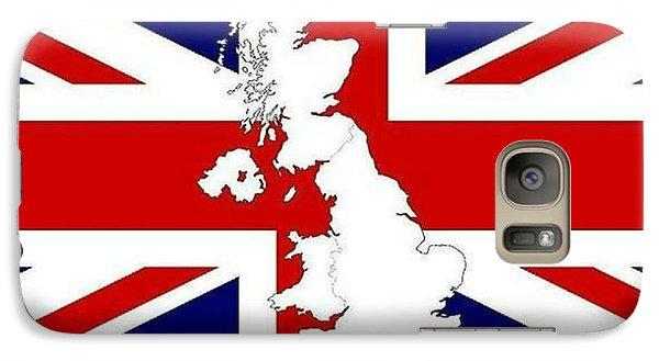 Galaxy Case featuring the digital art I Love Britain by Digital Art Cafe