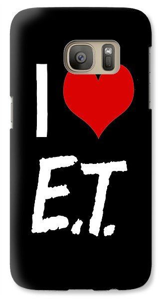 Galaxy Case featuring the digital art I Love E.t. by Gina Dsgn