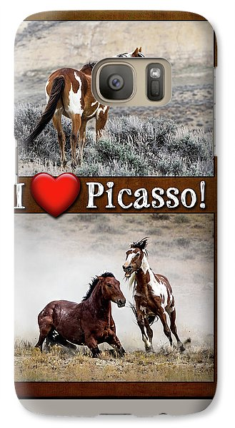I Love Picasso Collage Galaxy S7 Case