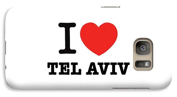 Galaxy Case featuring the photograph i love Tel Aviv by Ron Shoshani