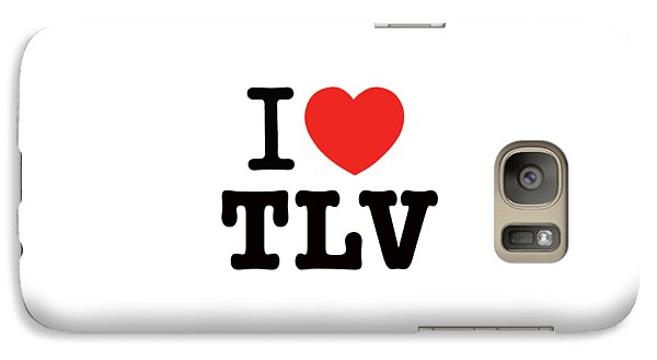 Galaxy Case featuring the photograph i love TLV by Ron Shoshani