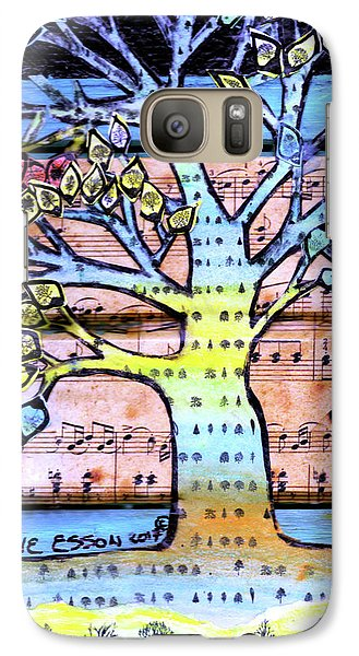 Galaxy Case featuring the painting I Love Trees by Genevieve Esson