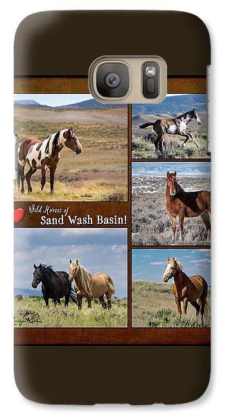 I Love Wild Horses Of Sand Wash Basin Galaxy S7 Case