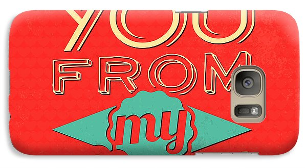 I Love You From My Heart Galaxy Case by Naxart Studio