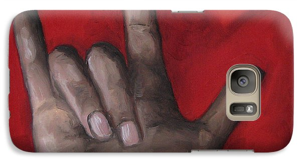 Galaxy Case featuring the painting I Love You by Jindra Noewi