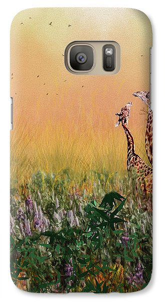 Galaxy Case featuring the photograph I Love You Mom by Diane Schuster