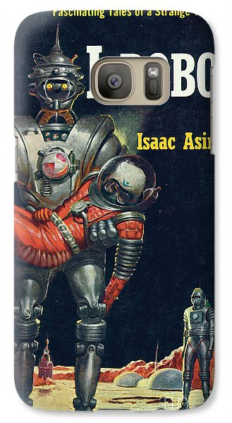 Galaxy Case featuring the painting I, Robot by Robert Schulz