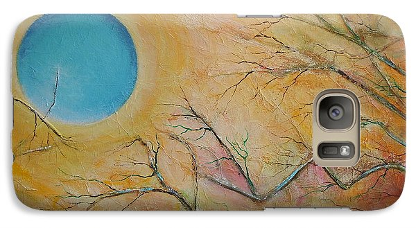 Galaxy Case featuring the painting I Saw You Standing Alone by Dan Whittemore
