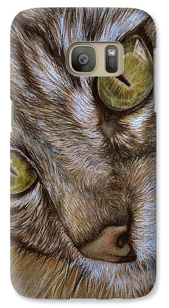 Galaxy Case featuring the drawing I See by Heidi Kriel