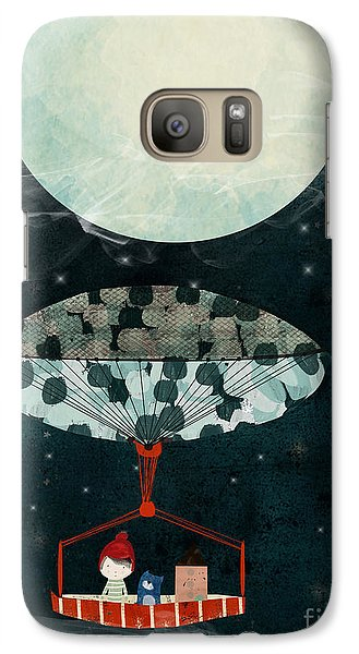 Galaxy Case featuring the painting I See The Moon Too by Bri B