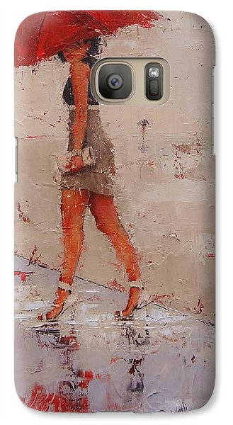 Galaxy Case featuring the painting I See You by Laura Lee Zanghetti