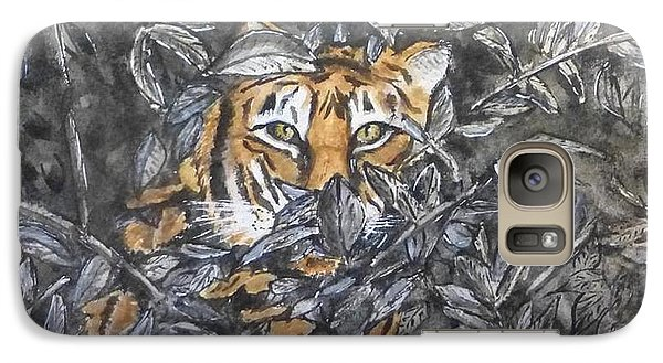 Galaxy Case featuring the painting I See You... Orange Tiger by Kelly Mills