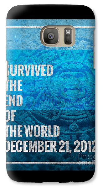Galaxy Case featuring the digital art I Survived The End Of The World by Phil Perkins