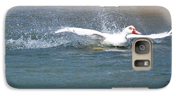 Galaxy Case featuring the photograph I Think I Can Fly  by Teresa Blanton