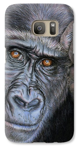 Gorilla Galaxy S7 Case - I Think Therefore I Am by Sarah Batalka