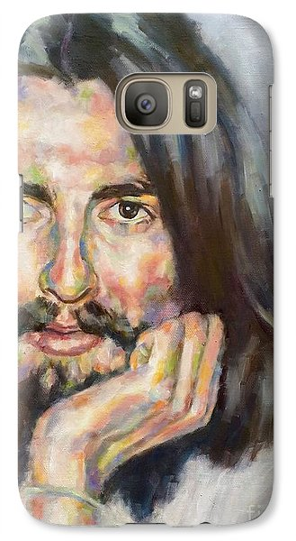 Galaxy Case featuring the painting Free From Birth by Rebecca Glaze