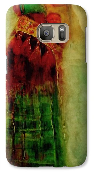 Galaxy Case featuring the painting I Walk by FeatherStone Studio Julie A Miller