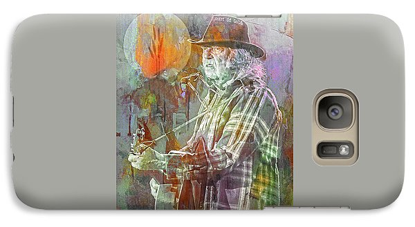 Neil Young Galaxy S7 Case - I Wanna Live, I Wanna Give by Mal Bray