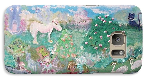 Galaxy Case featuring the painting I Want To Be There by Judith Desrosiers