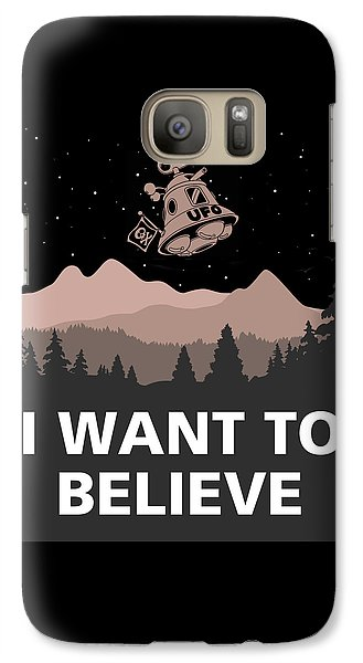 Galaxy Case featuring the digital art I Want To Believe by Gina Dsgn