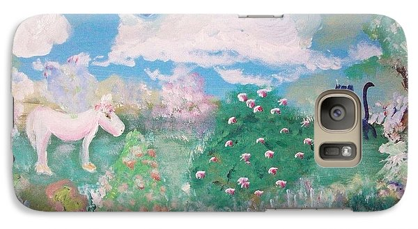Galaxy Case featuring the painting I Want To Play Too by Judith Desrosiers