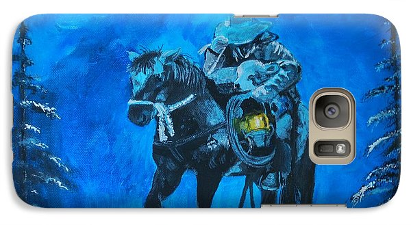 Galaxy Case featuring the painting I Will Carry You by Leslie Allen