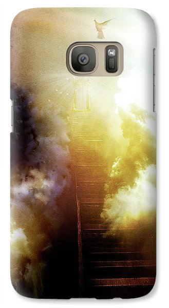 Galaxy Case featuring the photograph I Will Take The Stairs by Yvonne Emerson AKA RavenSoul