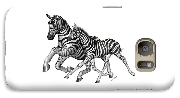 Zebra Galaxy S7 Case - I Will Take You Home by Betsy Knapp