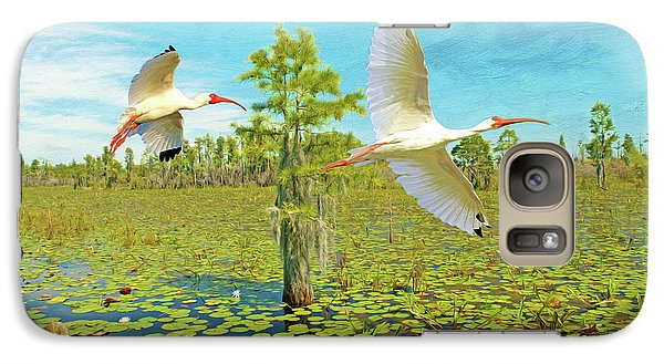 Ibis Galaxy S7 Case - Ibis At Okefenokee by Laura D Young