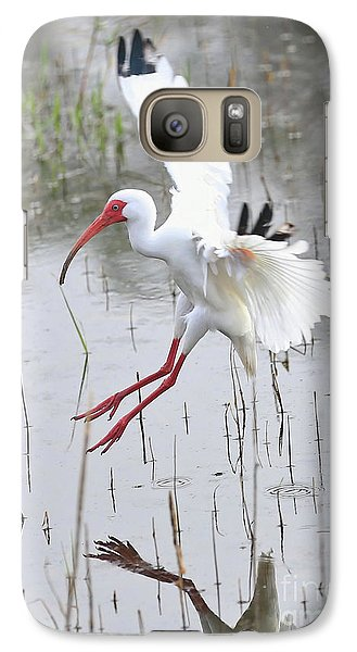 Ibis Soft Water Landing Galaxy S7 Case by Carol Groenen
