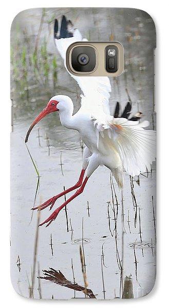Ibis Soft Water Landing Galaxy Case by Carol Groenen