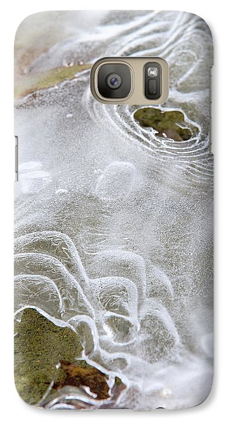Galaxy S7 Case featuring the photograph Ice Abstract by Christina Rollo