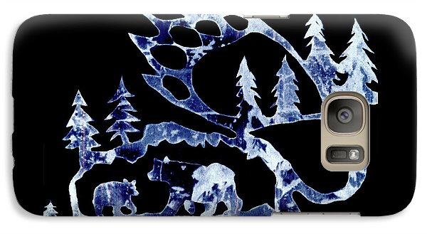 Galaxy Case featuring the photograph Ice Bears 1 by Larry Campbell