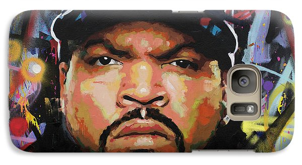 Galaxy Case featuring the painting Ice Cube by Richard Day