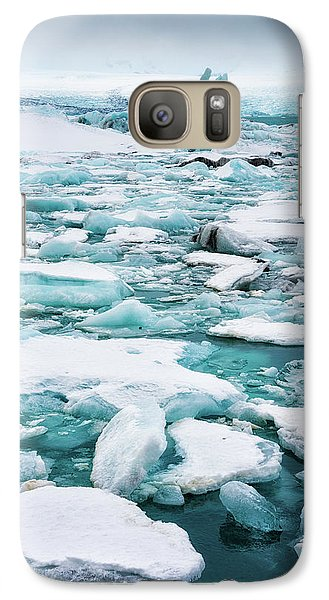 Galaxy Case featuring the photograph Ice Galore In The Jokulsarlon Glacier Lagoon Iceland by Matthias Hauser