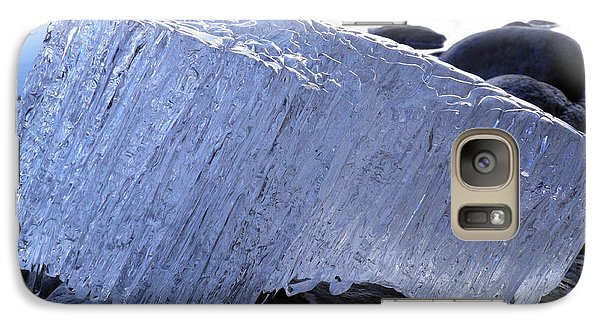 Galaxy Case featuring the photograph Ice On Rocks 1 by Sami Tiainen