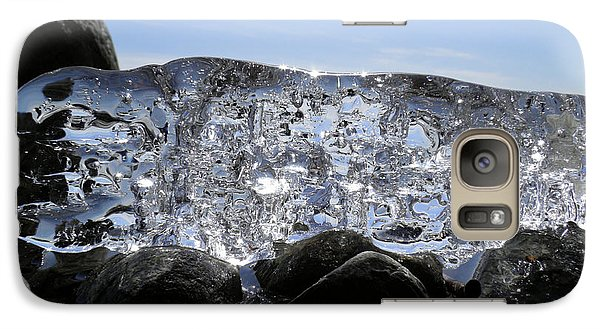 Galaxy Case featuring the photograph Ice On Rocks 3 by Sami Tiainen