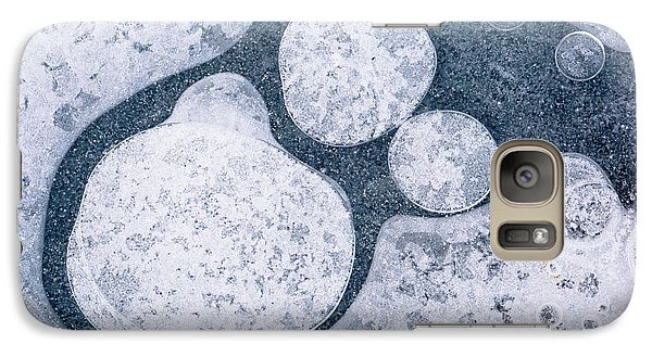 Galaxy Case featuring the photograph Ice Pattern Four by Davorin Mance