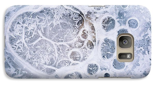 Galaxy Case featuring the photograph Ice Pattern One by Davorin Mance