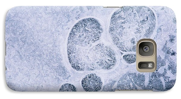 Galaxy Case featuring the photograph Ice Pattern Three by Davorin Mance