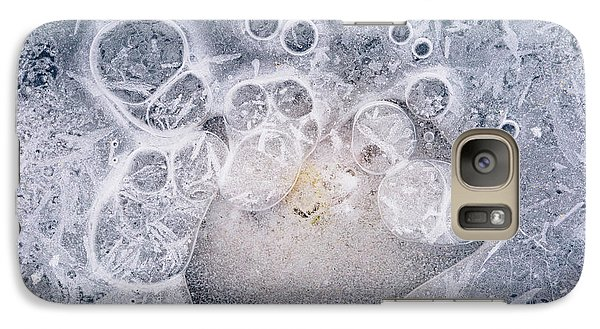 Galaxy Case featuring the photograph Ice Pattern Two by Davorin Mance