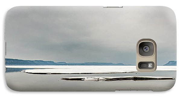 Galaxy Case featuring the photograph Ice Sheet by Dan Traun