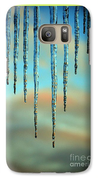 Galaxy Case featuring the photograph Ice Sickles - Winter In Switzerland  by Susanne Van Hulst