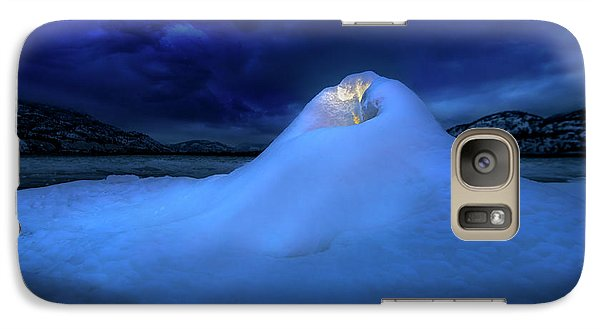 Galaxy Case featuring the photograph Ice Volcano by John Poon