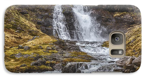 Galaxy Case featuring the tapestry - textile Iceland Fjord 2 by Kathy Adams Clark